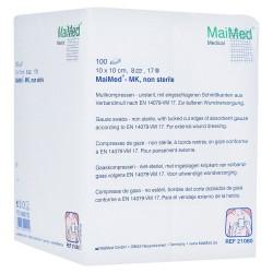 GASA NO ESTERIL MK 10 X 10 CM 8 CAPAS 100 UDS