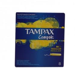 TAMPAX COMPAK TAMPONES REGULAR 8 UNIDADES