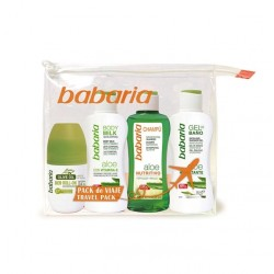 BABARIA NECESER ALOE CHAMPU 100ML+GEL 100ML+BODY MILK 100ML+ DESODORANTE 50ML
