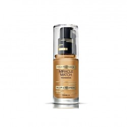 MAX FACTOR MIRACLE MATCH BLUR & NORISH BASE DE MAQUILLAJE 85 CARAMEL 30ML