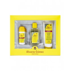 ALVAREZ GOMEZ AGUA DE COLONIA CONCENTRADA 150 ML + DEO ROLL ON 75 ML + SHOWER GEL 230 ML SET REGALO