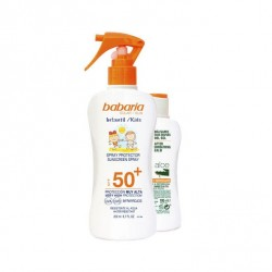BABARIA LOCION PROTECTORA SOLAR INFANTIL SPF50+ 200ML + AFTER SUN ALOE 100ML