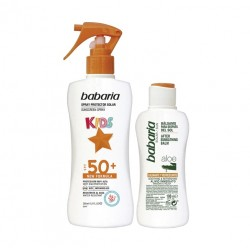 BABARIA KIDS SPRAY PROTECTOR SOLAR SPF 50 200 ML + AFTER SUN ALOE 100 ML SET REGALO