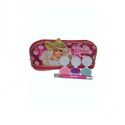 BARBIE NECESER + 3 SOMBRAS + BRILLO DE LABIOS SET REGALO