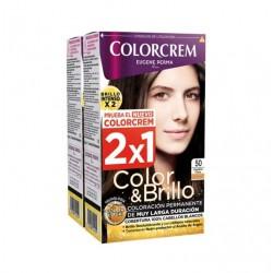 COLORCREM COLOR & BRILLO TINTE CAPILAR 50 CASTAÑO CLARO x 2 UDS