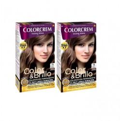COLORCREM COLOR & BRILLO TINTE CAPILAR 79 RUBIO CARAMELO x 2 UDS