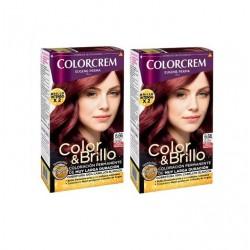 COLORCREM COLOR & BRILLO TINTE CAPILAR 6.66 CHOCOLATE ROJO INTENSO x 2 UDS
