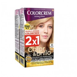 COLORCREM COLOR & BRILLO TINTE CAPILAR 83 RUBIO CLARO DORADO x 2 UDS