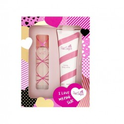 AQUOLINA PINK SUGAR EDT 100 ML + B/LOC 250 ML SET REGALO