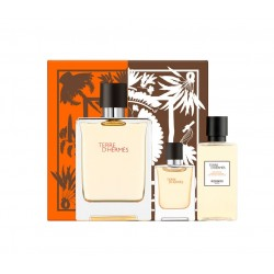 comprar perfumes online hombre HERMES TERRE D'HERMES EDT 100 ML + MINI 5 ML + SHOWER GEL 40 ML SET REGALO