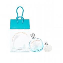 comprar perfumes online HERMES EAU DES MERVEILLES BLEUE EDT 50 ML + MINI 7.5 ML SET REGALO mujer