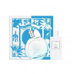 comprar perfumes online HERMES EAU DES MERVEILLES BLEUE EDT 100 ML + BODY LOTION 80 ML SET REGALO mujer