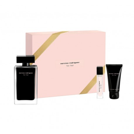 comprar perfumes online NARCISO RODRIGUEZ FOR HER EDT 100 ML + B/L 50 ML + EDT 10 ML SET REGALO mujer