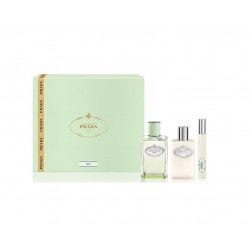 comprar perfumes online PRADA INFUSION D´IRIS EDP 100 ML + MINI ROLL ON 10 ML + BODY LOTION 100 ML SET REGALO mujer