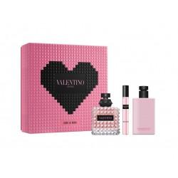 comprar perfumes online VALENTINO DONNA BORN IN ROMA EDP 100 ML + MINI 10 ML + BODY LOTION 100 ML SET REGALO mujer