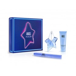 comprar perfumes online THIERRY MUGLER ANGEL EDP 25 ML RECARGABLE + PINCEL PERFUMADO 7 ML + B/L 50 ML SET REGALO mujer