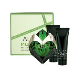 comprar perfumes online THIERRY MUGLER AURA EDP 50 ML + BODY LOTION 50 ML + SHOWER MILK 50 ML SET REGALO mujer