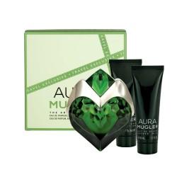 comprar perfumes online THIERRY MUGLER AURA EDP 50 ML + BODY LOTION 50 ML + SHOWER MILK 50 ML SET REGALO mujer