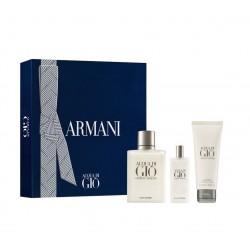 comprar perfumes online hombre GIORGIO ARMANI ACQUA DI GIO POUR HOMME EDT 100 ML + MINI 15 ML + GEL 75 ML SET REGALO