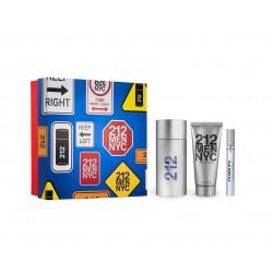 comprar perfumes online hombre CAROLINA HERRERA 212 MEN EDT 100 ML + A/S 100 + MINI 10 ML
