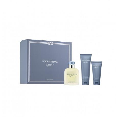 comprar perfumes online hombre DOLCE & GABBANA LIGHT BLUE POUR HOMME EDT 125 ML + A/S 75 + SHOWER GEL 50 ML SET REGALO