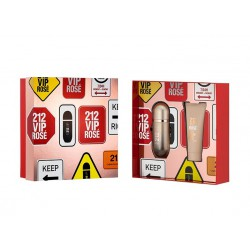 comprar perfumes online CAROLINA HERRERA 212 VIP ROSE EDP 50 ML + BODY LOTION 75 ML SET REGALO mujer