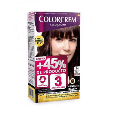 COLORCREM COLOR & BRILLO TINTE CAPILAR +45% DE PRODUCTO 74 MARRON MOKA