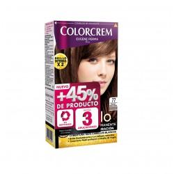 COLORCREM COLOR & BRILLO TINTE CAPILAR +45% DE PRODUCTO 77 MARRON GLACE CLARO