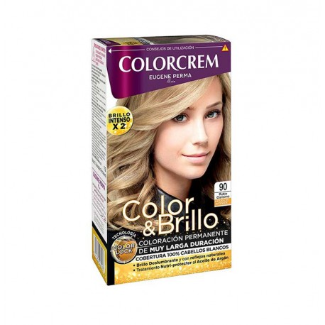 COLORCREM COLOR & BRILLO TINTE CAPILAR +45% DE PRODUCTO 90 RUBIO CLARISIMO