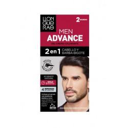 LLONGUERAS MEN ADVANCE 2 EN 1 CABELLO & BARBA-BIGOTE 2 MORENO