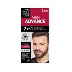 LLONGUERAS MEN ADVANCE 2 EN 1 CABELLO & BARBA-BIGOTE 3 CASTAÑO OSCURO