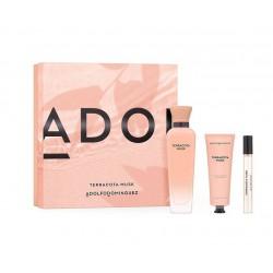 comprar perfumes online ADOLFO DOMINGUEZ TERRACOTA MUSK EDP 120 ML + MINIATURA 10 ML + HAND CREAM 50 ML SET REGALO mujer