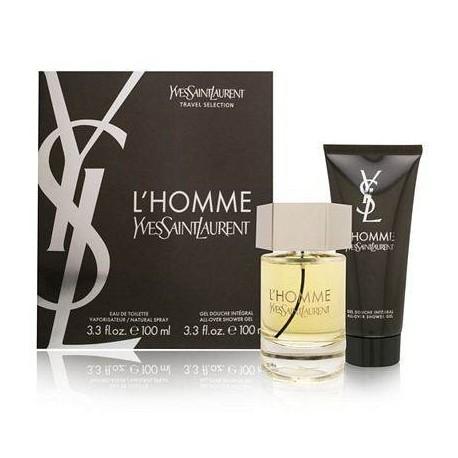 comprar perfume YSL L´HOMME EDT 100 ML + S/G 100 ML SET REGALO danaperfumerias.com