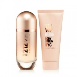 comprar perfumes online CAROLINA HERRERA 212 VIP ROSE EDP 80 ML + B/L 100 ML SET REGALO mujer