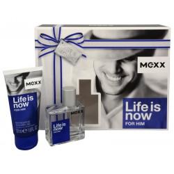 comprar perfumes online hombre MEXX LIFE IS NOW EDT 50 ML + 2X S/G 50 ML SET REGALO