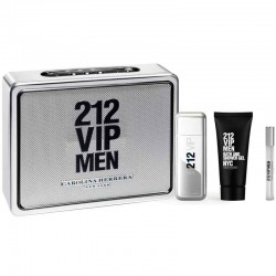 CAROLINA HERRERA 212 VIP MEN EDT 100 ML VP. + EDT 10 ML + S/GEL 100 ML SET REGALO