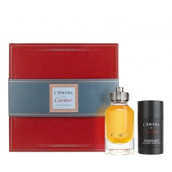 CARTIER L´ENVOL RECARGABLE EDP 80 ML + DEOSTICK 75 ML SET REGALO