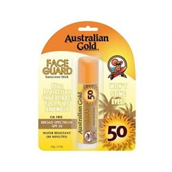 AUSTRALIAN GOLD FACE GUARD STICK PROTECTOR SOLAR SPF 50 14 GR