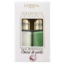 L'ORÉAL COLOR RICHE DUO MANICURE FRESHWATER PEARL 008 & AQUATIC GREEN 623 5ML