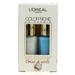 L'ORÉAL COLOR RICHE DUO MANICURE FROSTED PEARL 009 & BLUE LAGOON 624 5M