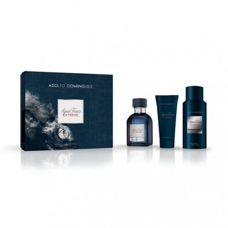comprar perfumes online hombre ADOLFO DOMINGUEZ AGUA FRESCA EXTREME EDT 120ML +A /S 75ML + DEO 150ML SET REGALO