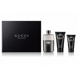 GUCCI GUILTY POUR HOMME EDT 90 ML + A/S BALM 75 + GEL 50 ML SET REGALO