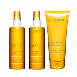 CLARINS FAMILY SUN PROTECTION  (SPF50 150 ML + SPF 20 150 ML + AFTERSUN 200 ML) SET
