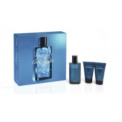 comprar perfume DAVIDOFF COOL WATER MEN EDT 125ML +S/G 75 + A/S 75 ML + NECESER SET REGALO danaperfumerias.com
