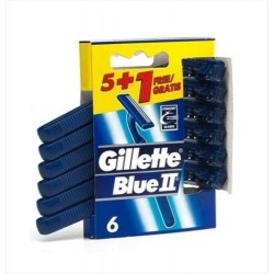GILLETTE BLUE II MAQUINILLAS AFEITAR DESECHABLES 5 +1