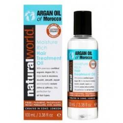NATURAL WORLD MOROCCAN ARGAN OIL MOISTURE RICH HAIR TREATMENT OIL 100 ML