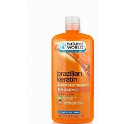 NATURAL WORLD BRAZILIAN KERATIN OIL SMOOTHING THERAPY SHAMPOO 500 ML