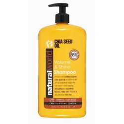 NATURAL WORLD CHIA SEED OIL VOLUME & SHINE  SHAMPOO 1000 ML