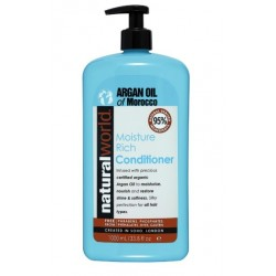 NATURAL WORLD MOROCCAN ARGAN OIL MOISTURE RICH CONDITIONER 1000 ML