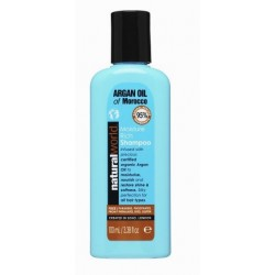 NATURAL WORLD MOROCCAN ARGAN OIL MOISTURE RICH SHAMPOO 100 ML